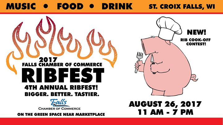 2017 Falls Chamber Ribfest At St Croix Falls Town Wisconsin