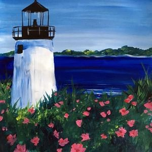 Paint Nite Lighthouse Blooms At Park Grill Amp Spirits