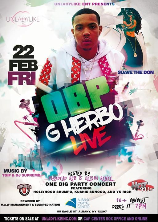 G HERBO LIVE at Albany CAP Center