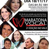 2Maratona Vocal em Taubat