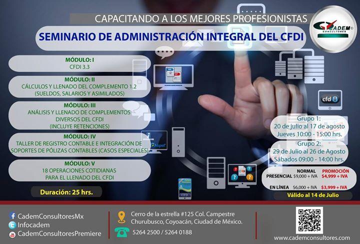 Seminario De Administración Integral Del Cfdi At Cadem