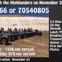 ATV Tour Zip Line Skywalk with the Highlanders