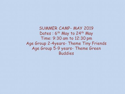 Summer Camp May 2019