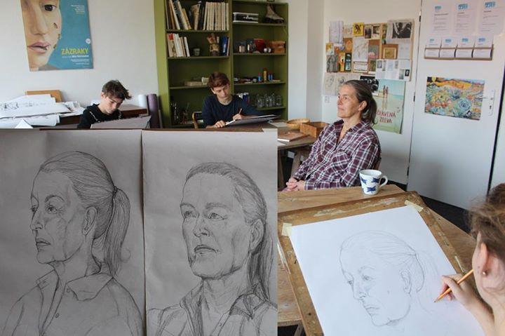 Portrt - kresba podle ivho modelu