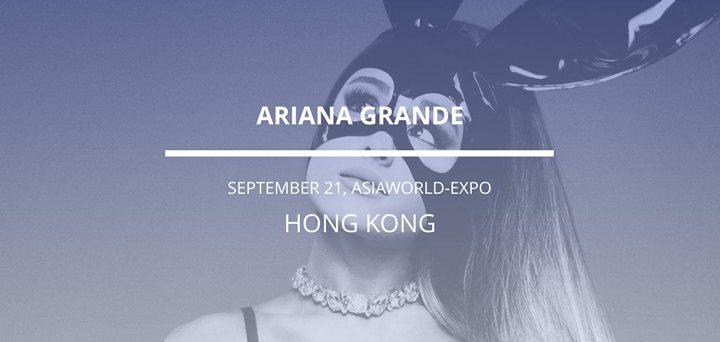 Ariana Grande in Hong Kong
