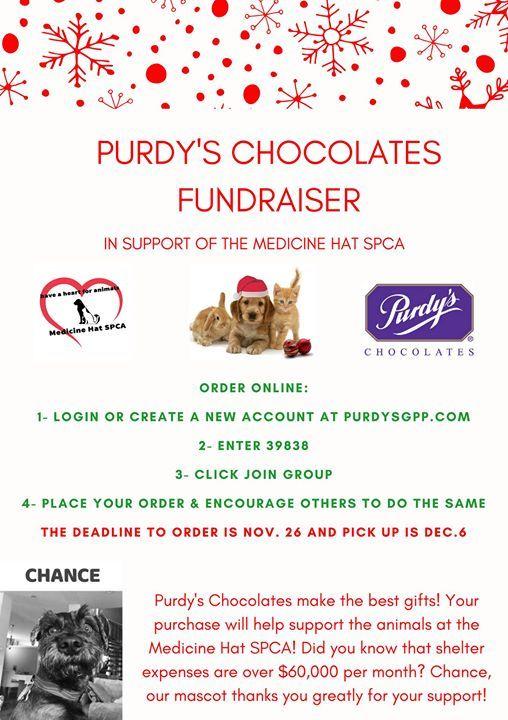 Purdys Chocolates Fundraiser