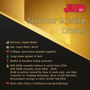 JHD Summer Solstice Dinner