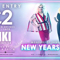KIKI Manchester New Years Day 2018 - 2 Drinks