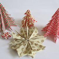 Atelier origami dcoration de Nol (sapin et toile de Nol)