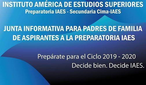Junta informativa para PPFF de aspirantes a la Prepa IAES