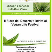 Il Fiore del Deserto vi aspetta al Vegan life festival
