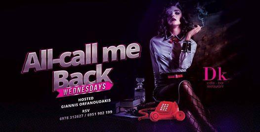 Al Call Me Back  Dk  Wednesday 20 February