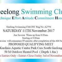 Geelong Open LC Qualifying Meet