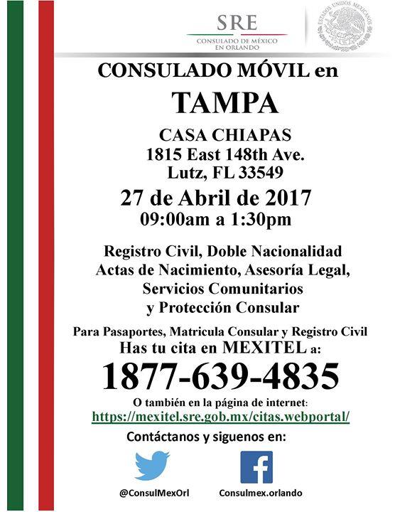 Movil en Tampa at Casa Chiapas Tampa Inc., Lutz