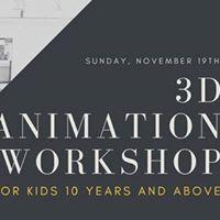 3D Animation workshop for kids