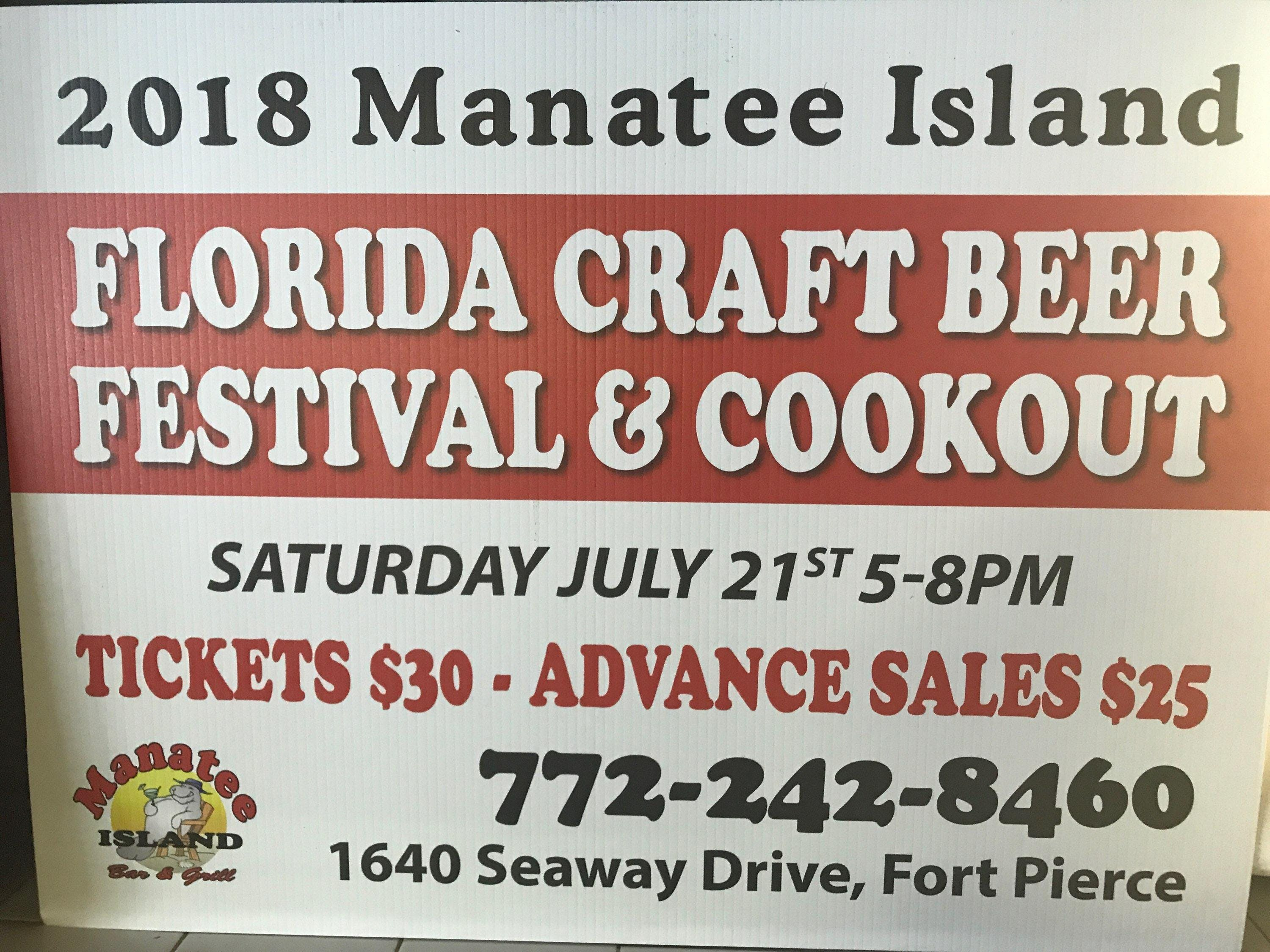 2018 Manatee Island Craft Beer Fest and cookout in Fort