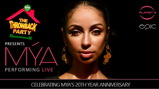 The Throwback Party w Mya Performing Live