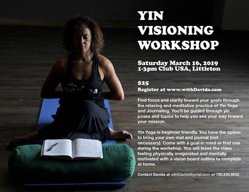 Yin Visioning Work Shop at Club USA, Lakewood