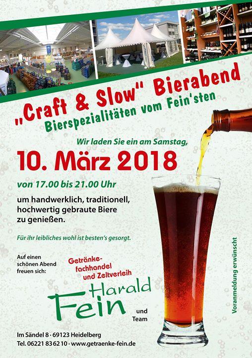 Craft & Slow Bierabend at Getränke Fachhandel und Zeltverleih Fein ...