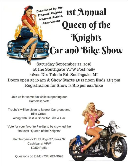 1st Annual Queen Of The Knight Car Motorcycle And Pinup Girls