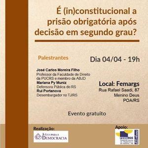 (in)constitucional a priso obrigatria aps deciso em 2grau