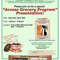 Access Grocery Program - Cochrane AB