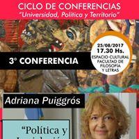 Adriana Puiggrs en Conferencia