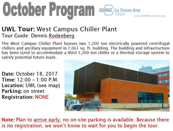 Uwl Tour West Campus Chiller Plant At University Of Wisconsin La