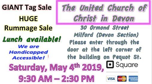 Annual Spring Tag and Rummage Sale at The United Church of