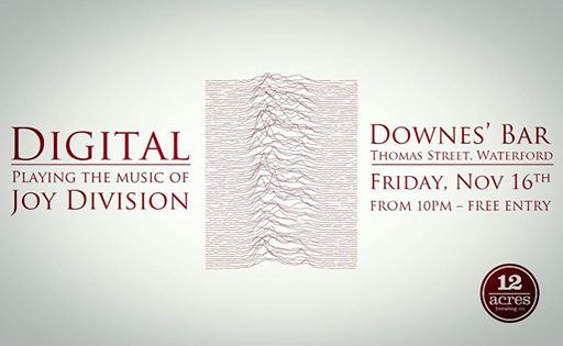 Digital - Playing the music of Joy Division at Downes Bar