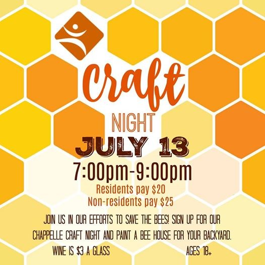 Chappelle Craft Night- Bee Houses at Chappelle Gardens