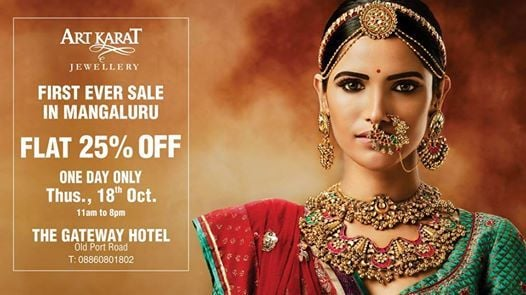 Art Karat Jewellery Offers Flat 25% OFF - Mangalore