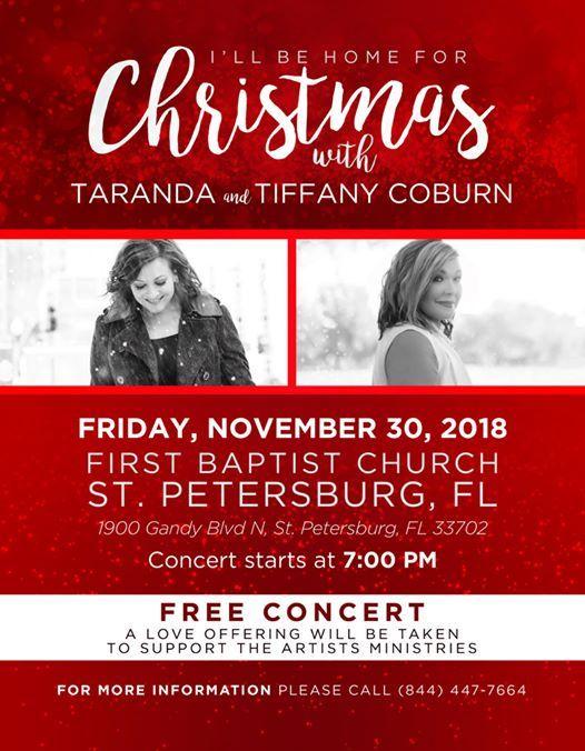taranda tiffany coburn in concert ill be home for christmas - I Will Be Home For Christmas