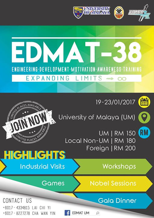 EDMAT-38 (ENGINEERING DEVELOPMENT MOTIVATION AWARENESS TRAINING-38)