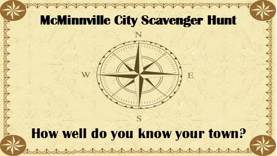 McMinnville City Scavenger Hunt
