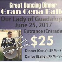 GREAT DANCING DINNERGran Cena Baile featuring ERIK ANTONIO y Mariachi