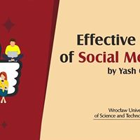 2nd Open Seminar - Effective Use of Social Media by Yash Chawla