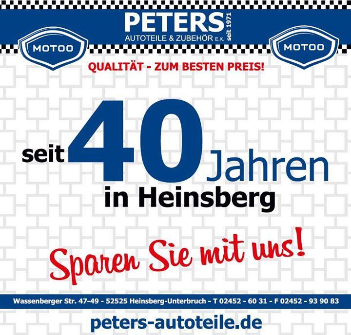 Wir feiern 40 Jahre Heinsberg - Sparen Sie mit uns! at Peters ...