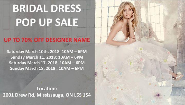 Bridal Dress Pop up SALE at 2001 Drew Rd, Mississauga, ON L5S 1S4 ...