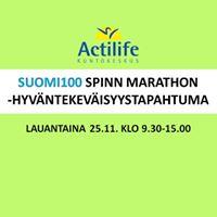 Suomi100 Spinn Marathon -hyvntekevisyystapahtuma