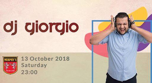 DJ Giorgio at Murphys - Saturday
