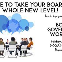 Workshop  Board Governance