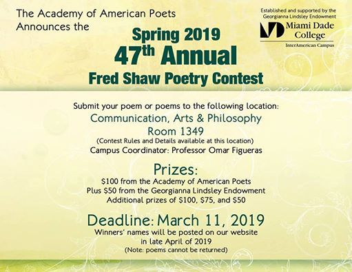 Fred Shaw Poetry Contest