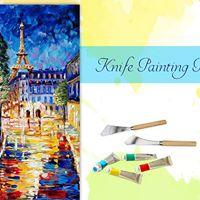 Knife Painting Party - Paris