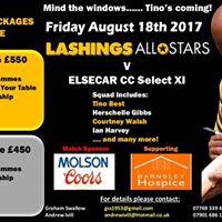 Lashings All Stars v Elsecar Cricket Club
