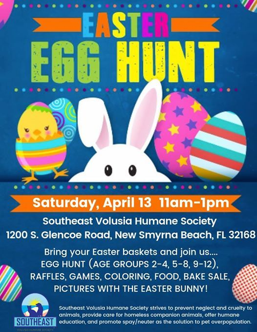 Easter Egg Hunt at Southeast Volusia Humane Society, Florida