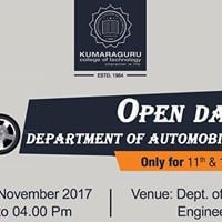 Open Day in Dept. of Automobile Engineering for School Students