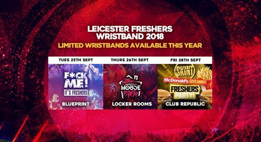 Leicester freshers wristband 2018 at leicester united kingdom leicester freshers wristband 2018 malvernweather Choice Image