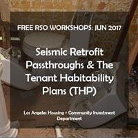 Free RSO Workshop - Seismic Retrofit Passthroughs &amp THP