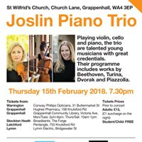 Live at St. Wilfrids welcomes Joslin Piano Trio